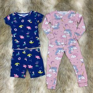 4T Carter's Mouse & Unicorn Pajama sets